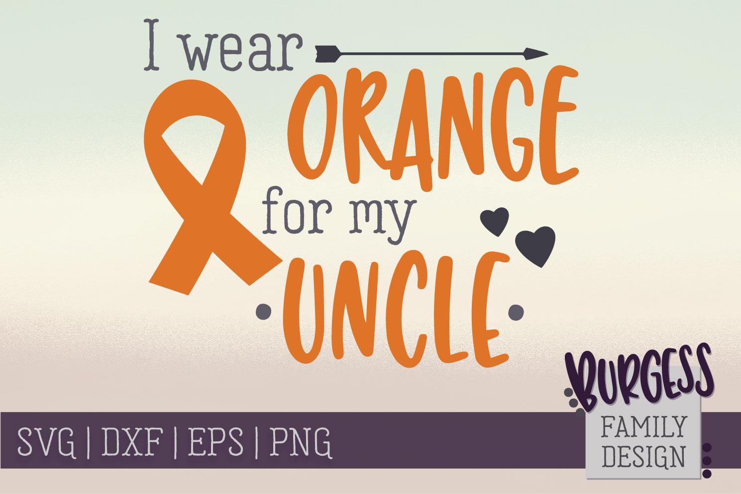 BUNDLE | I wear orange for my family | SVG DXF EPS PN example image 2