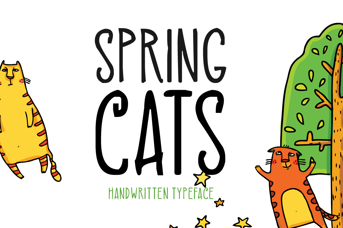 Spring Cats example image 1