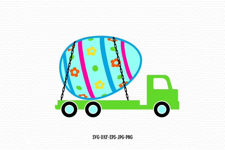 Easter Lorry Truck Svg example image 1