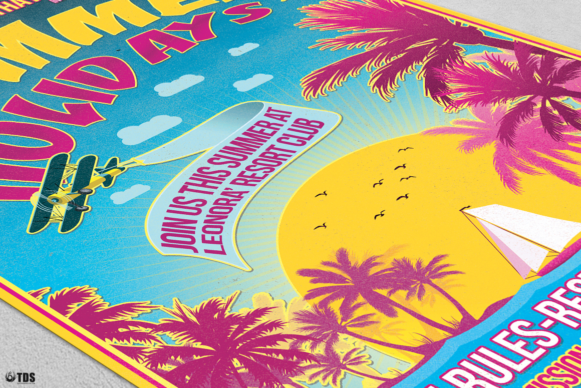 Summer Holidays Flyer Template V2 example image 5