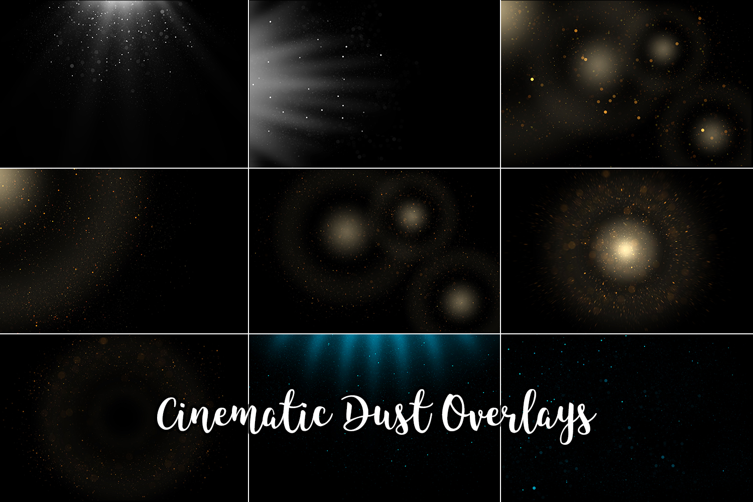 Cinematic Dust Photo Overlays, Bokeh Light Effects example image 2