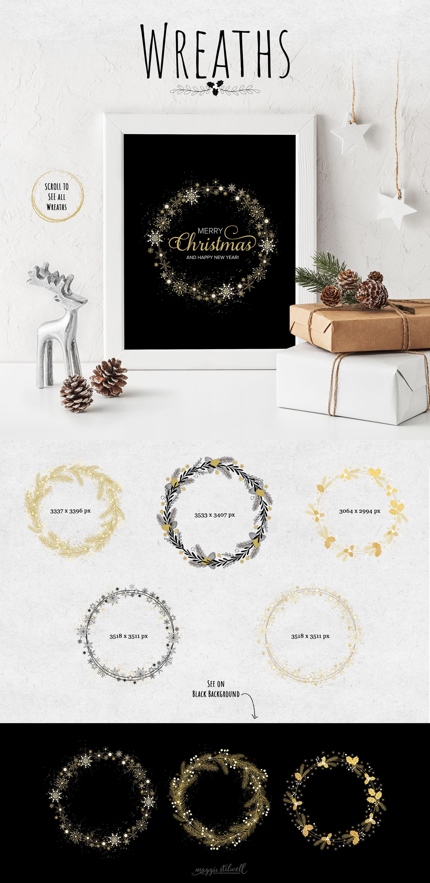 Black & Gold Christmas example image 2