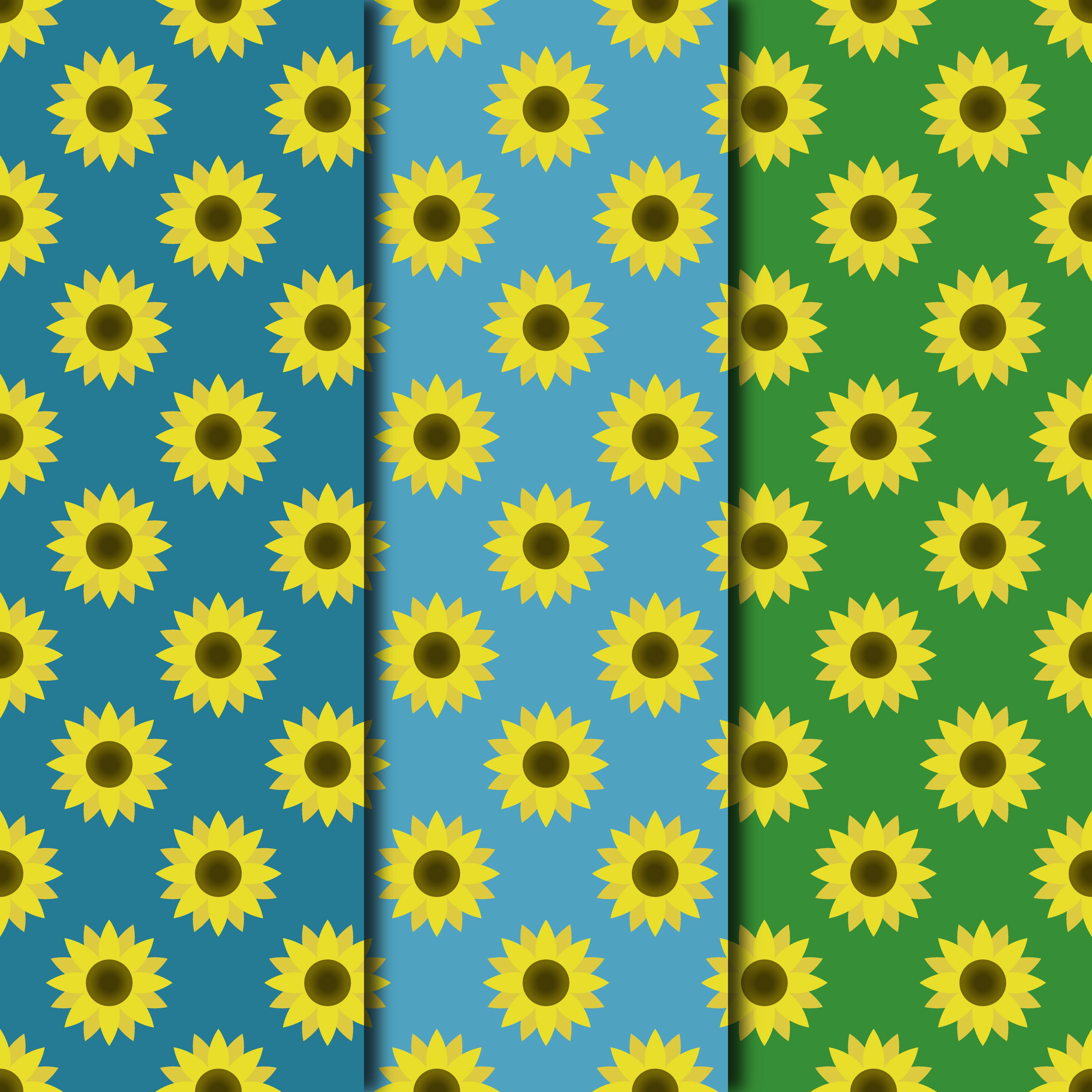 Blooming Sunflowers Digital Paper example image 4