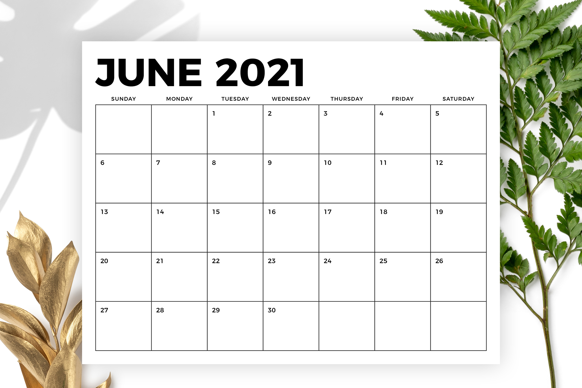 8.5 x 11 Inch Bold 2021 Calendar example image 3