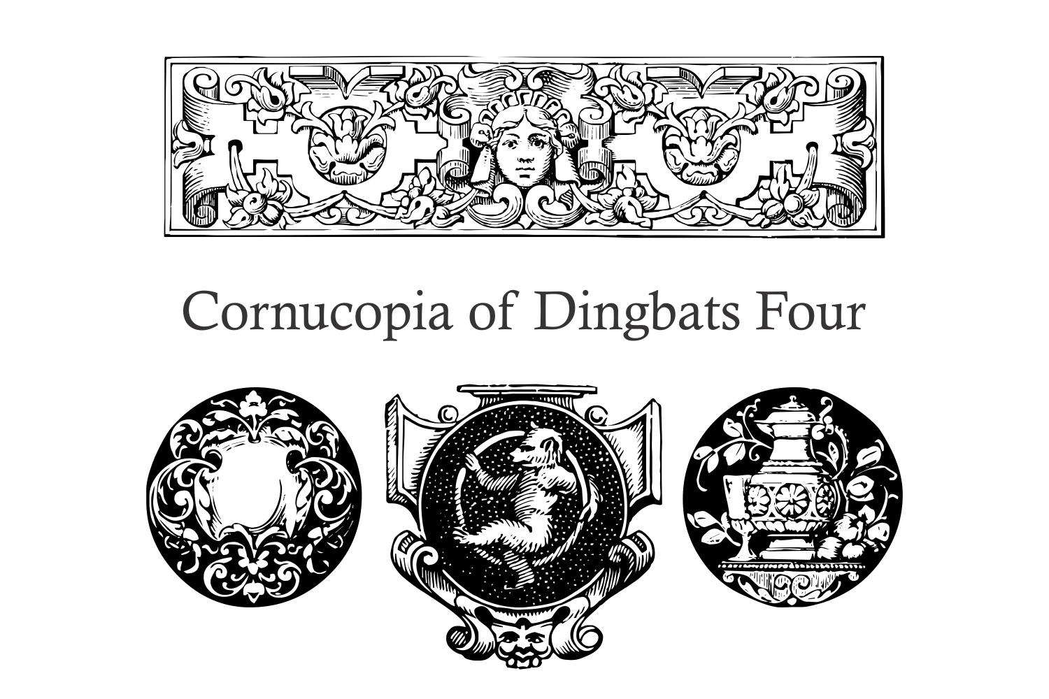 Cornucopia of Dingbats Four example image 4