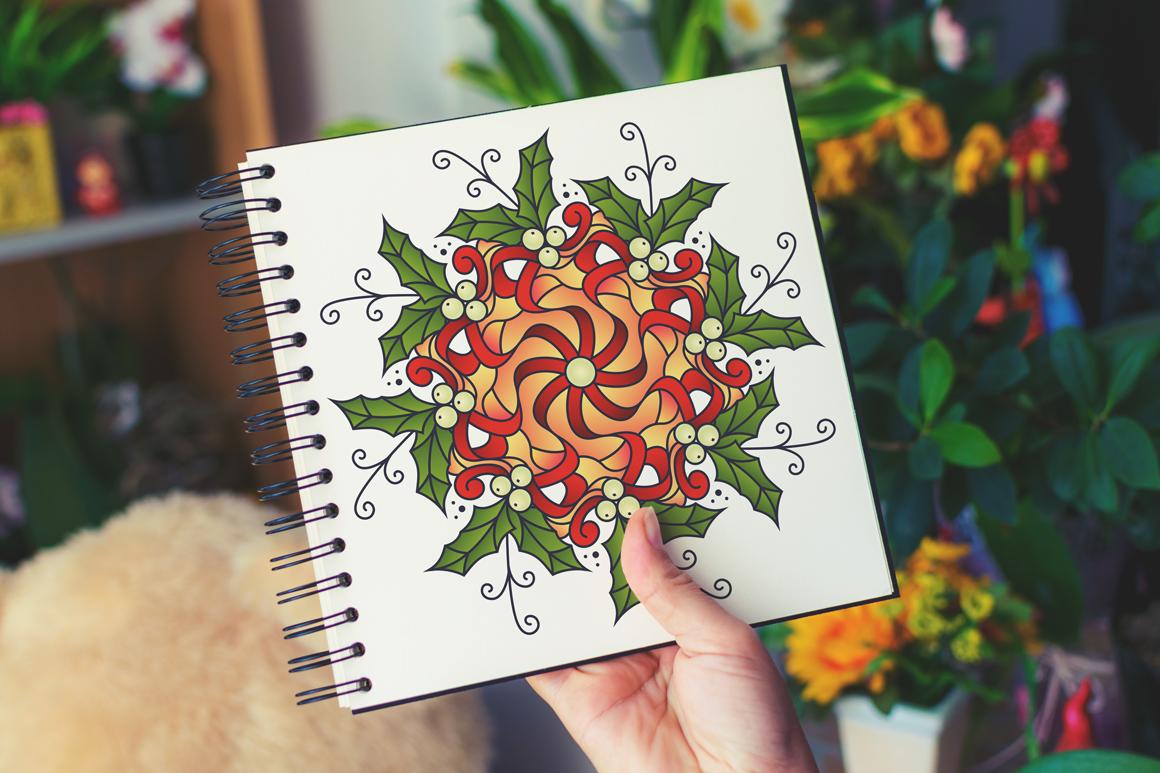100 Christmas Mandala Ornaments example image 24