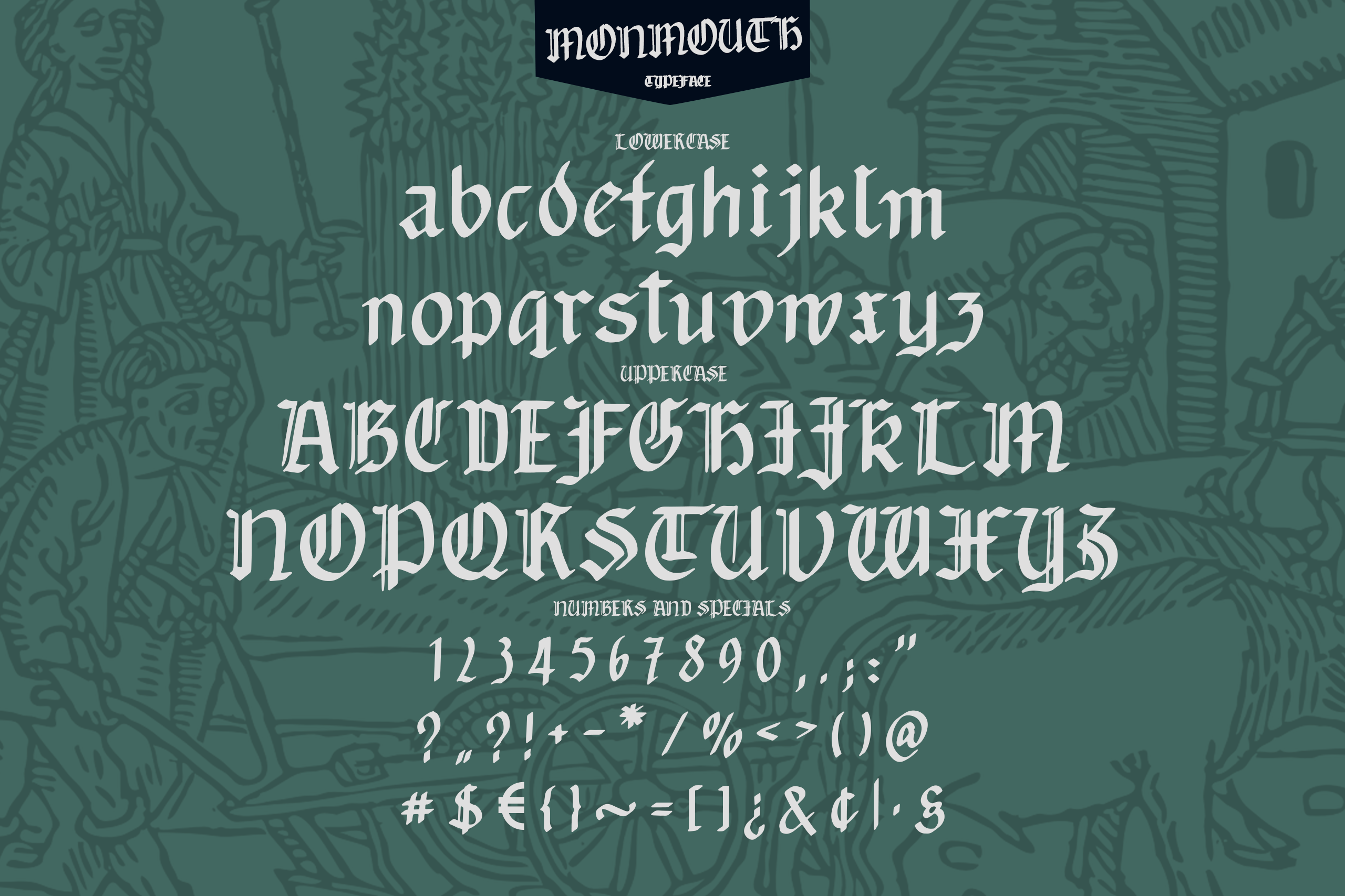 Monmouth Font - Handdrawn example image 2