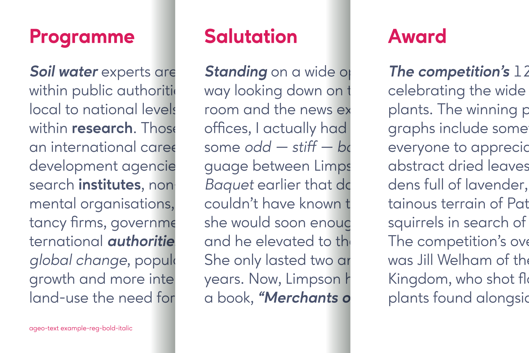 Ageo geometric sans font family example image 6