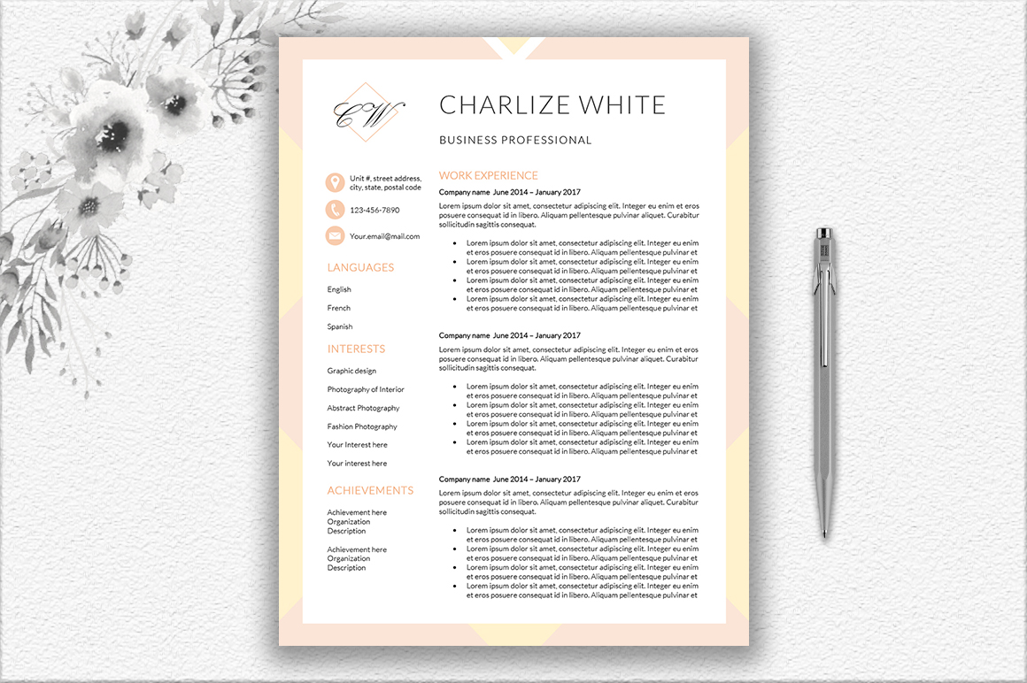 Resume Template Design example image 3
