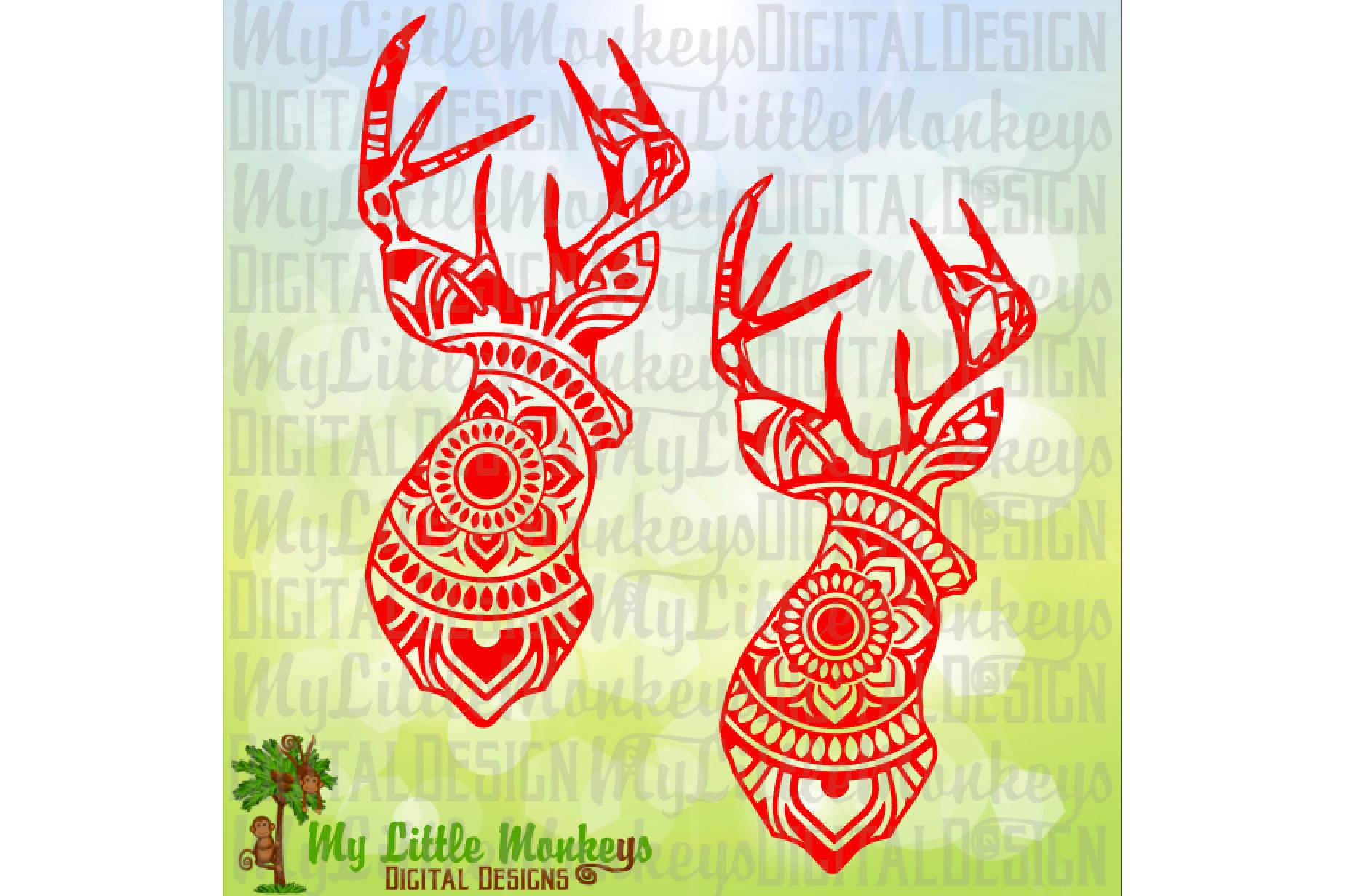 Deer Head Mandala example image 1