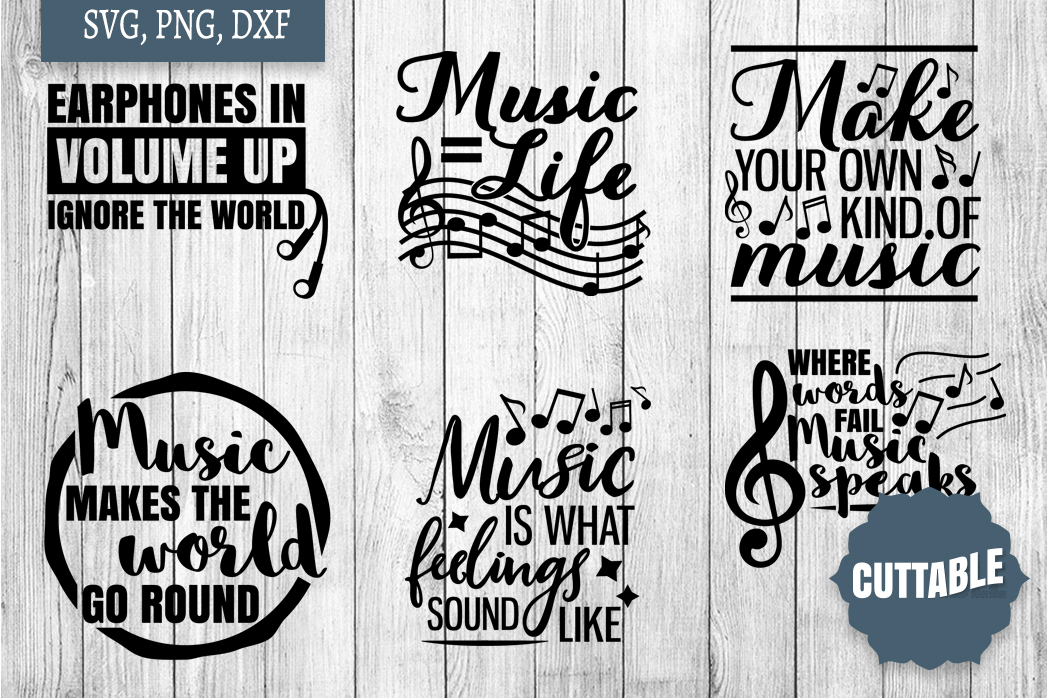 Music cut file Bundle, Musician quote SVGs, Musicial SVGs example image 3