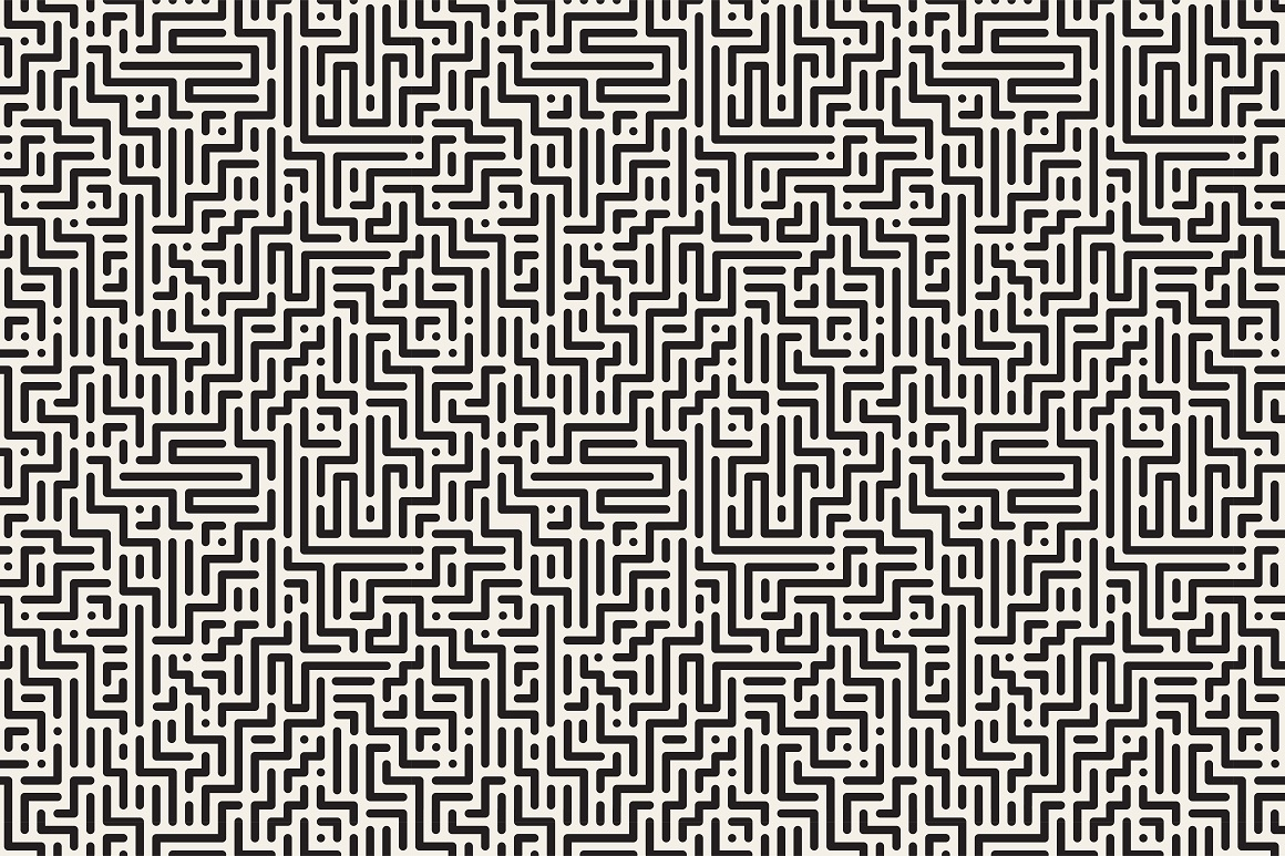 Seamless striped geometric patterns example image 8