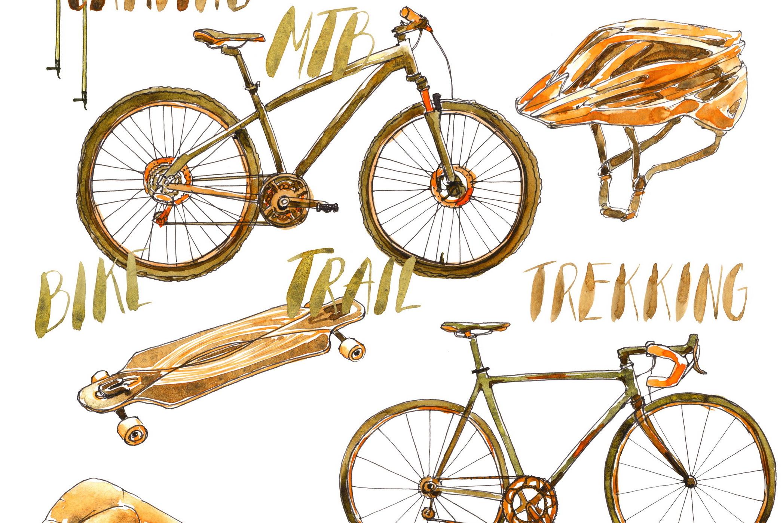 Outdoor Activities Watercolor Sketch example image 6