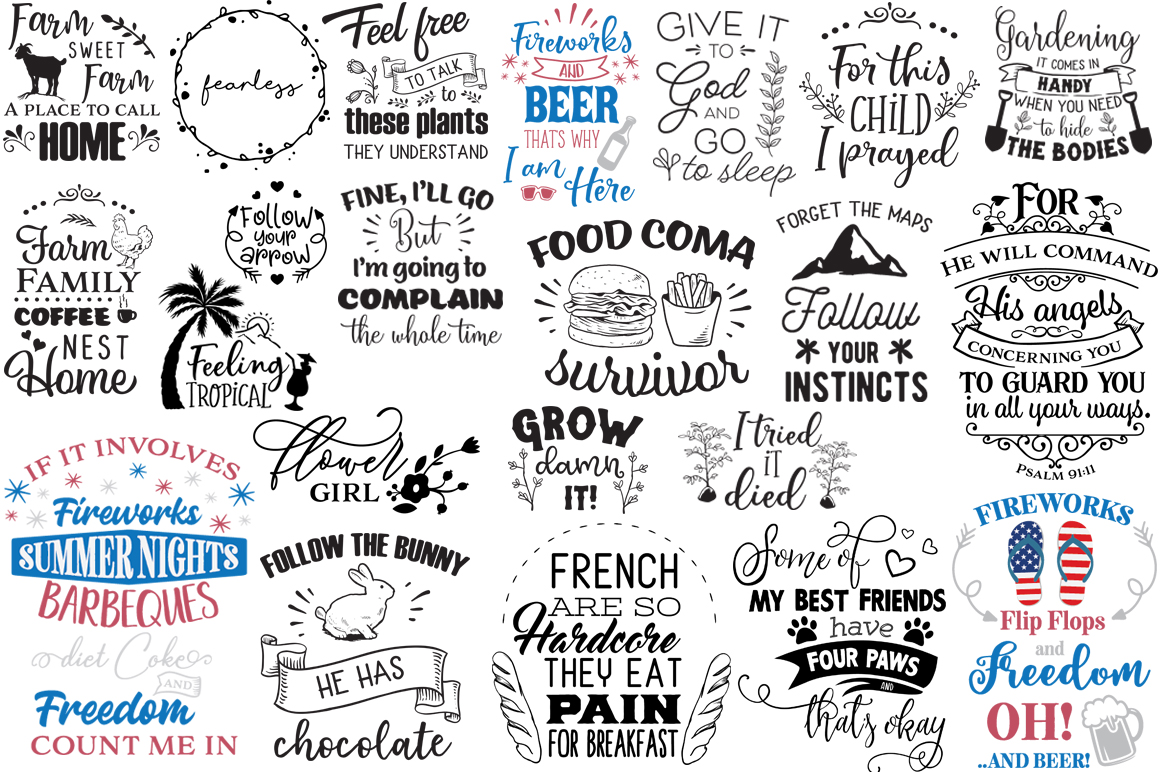 The Ginormous SVG Cut Files Bundle example image 8