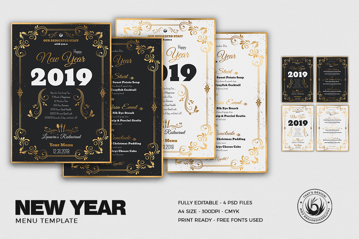 New Year Menu Template V1 example image 1