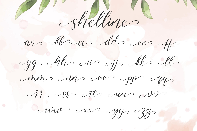 Shelline - Romantic Script example image 7