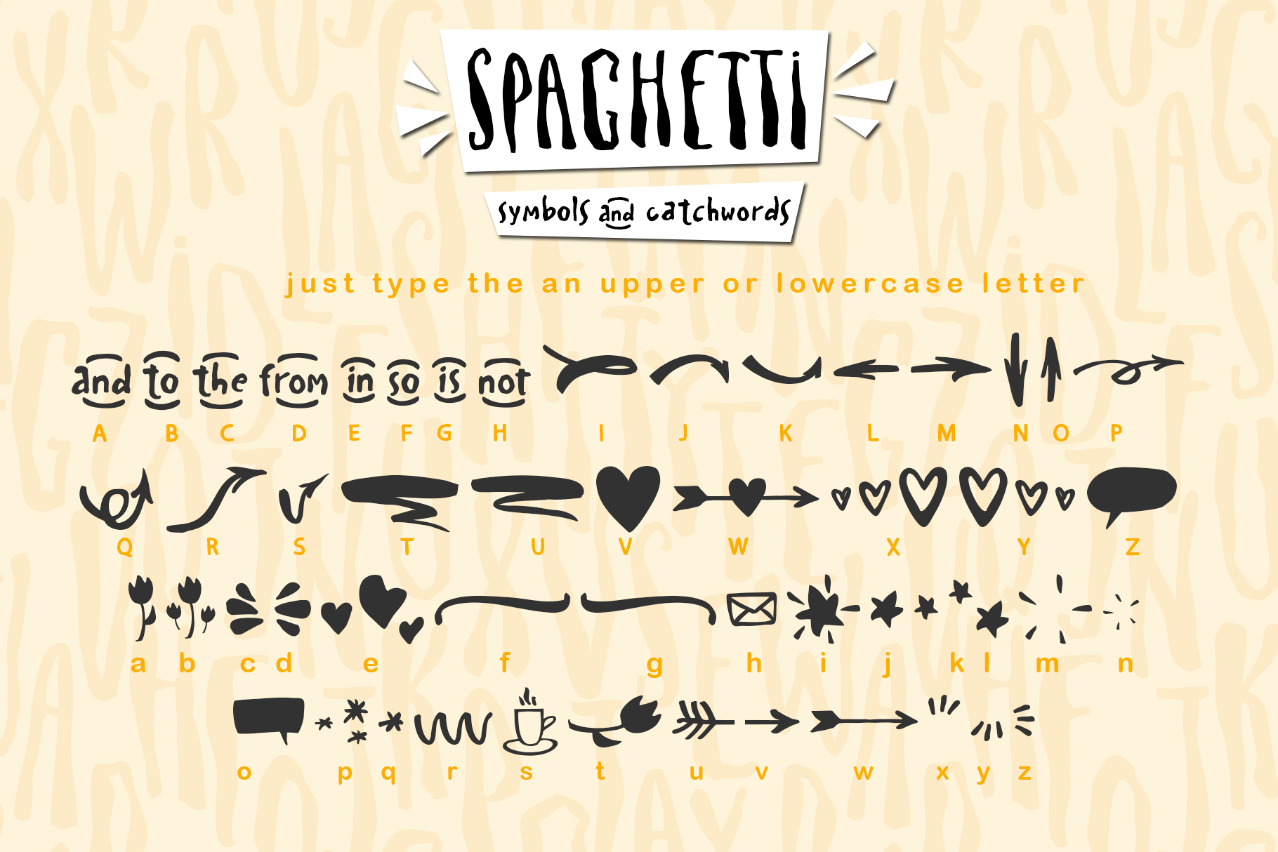 Spaghetti playful script font & Extras example image 12