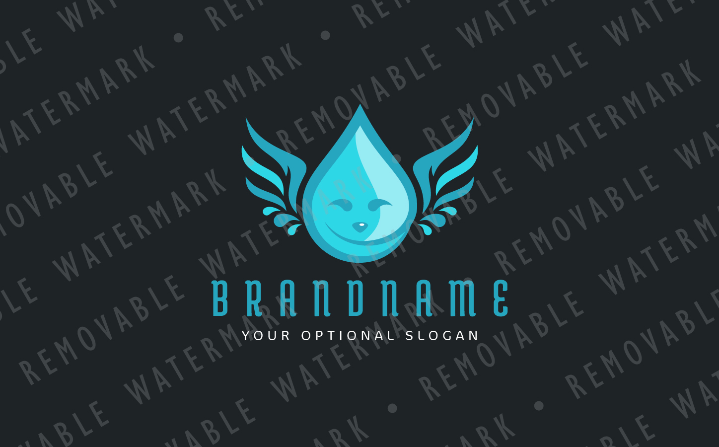 Droplet Angel Logo example image 3