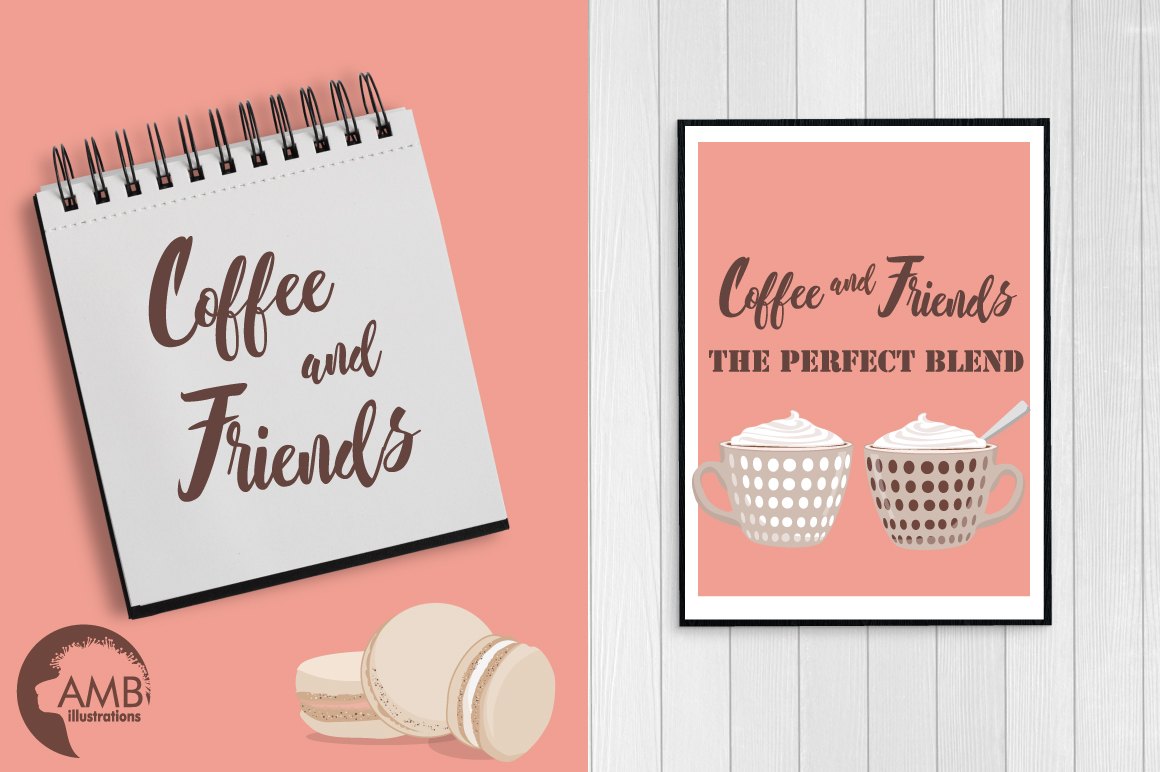 Coffee in Paris cliparts, graphics, illustrations AMB-1592 example image 5
