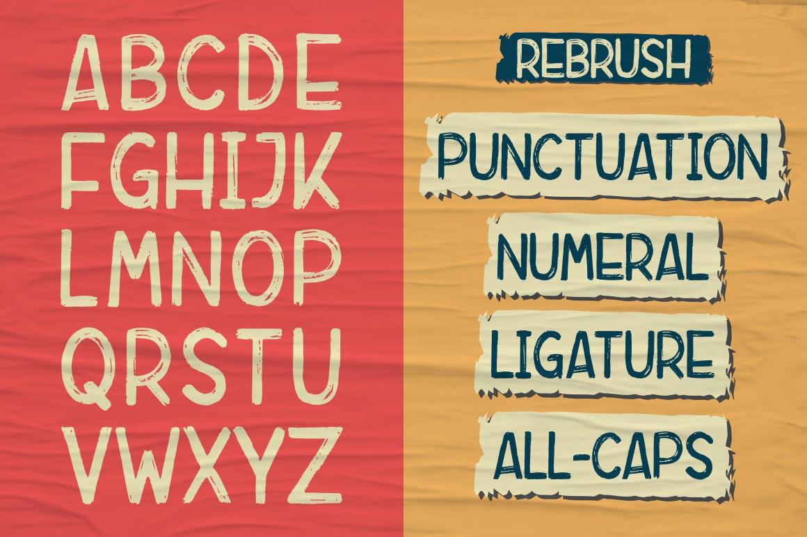 Rebrush Typeface example image 5