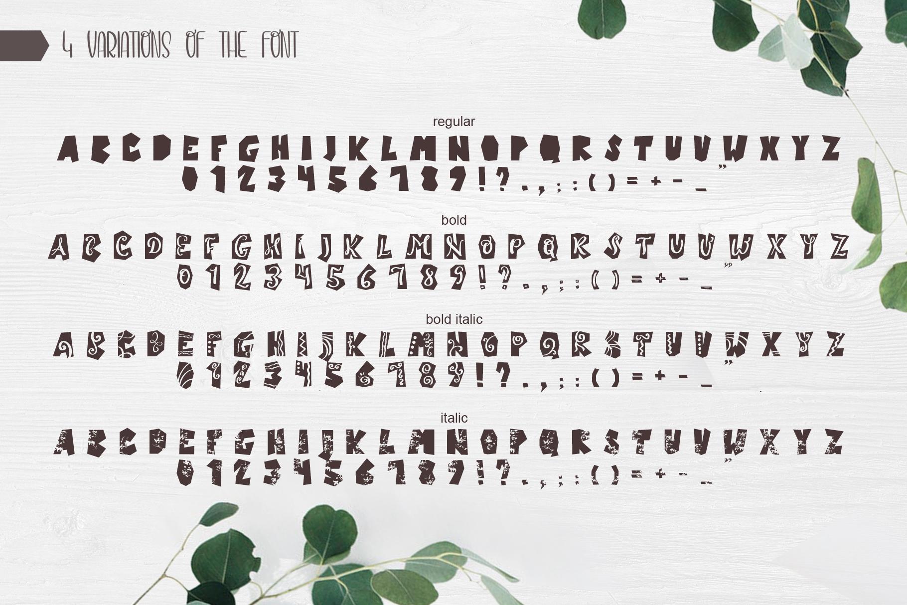 Castillo Scandinavian Font & Pattern example image 7