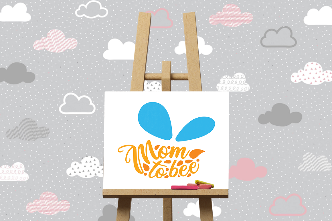 Pregnancy Announcement SVG Cut Files - Mom to Bee example image 3