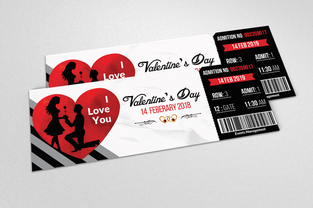 Valentines Party Event Ticket example image 2