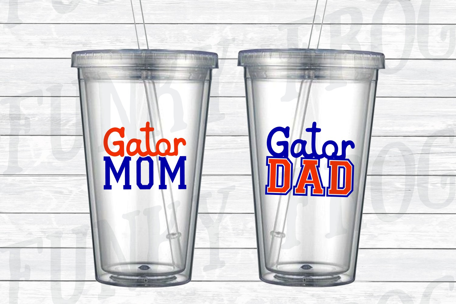 Gator Dad and Gator Mom SVG Cut File for Crafters example image 2