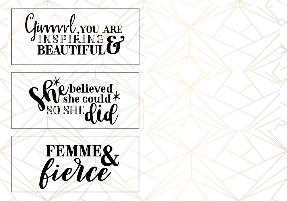 Woman Up Girl Power SVG Cut File Bundle example image 4