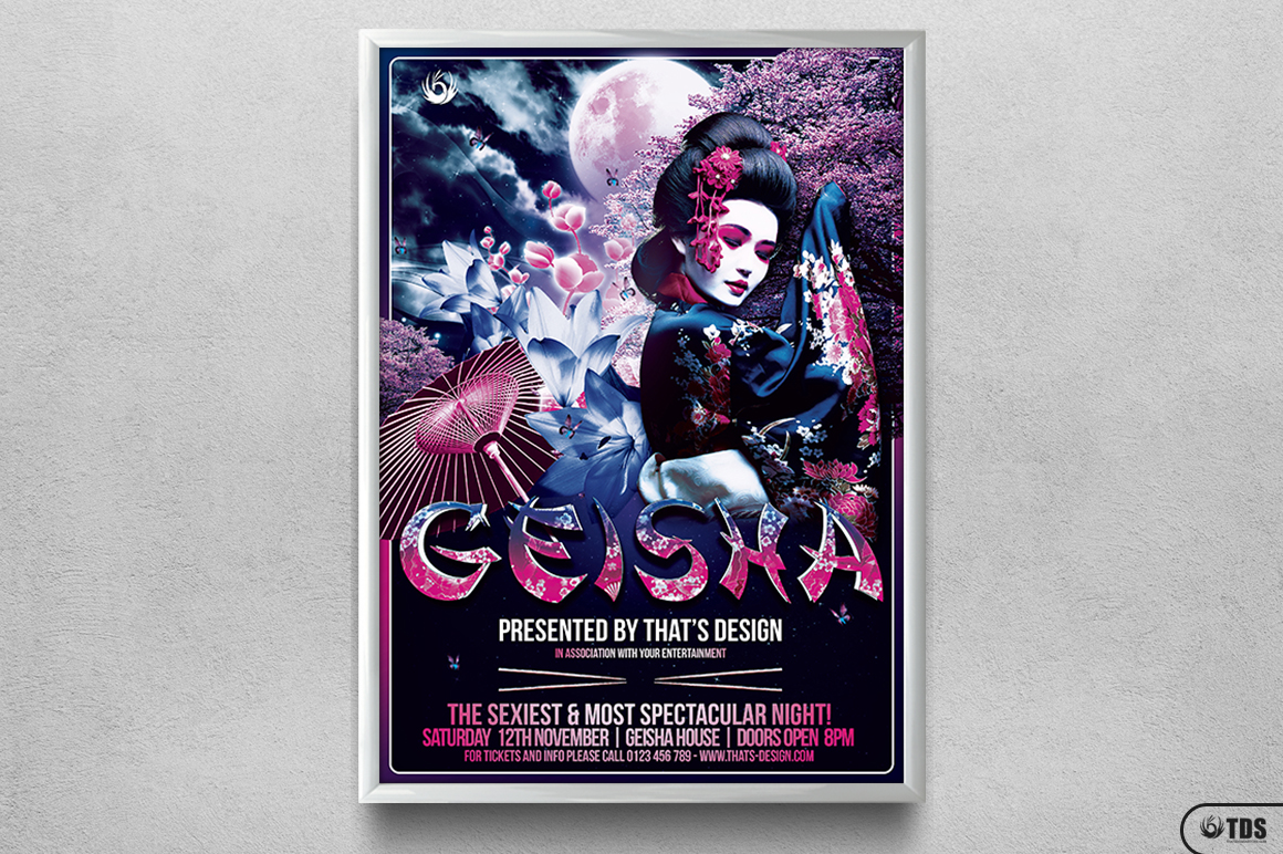 Geisha Night Flyer Template V2 example image 6