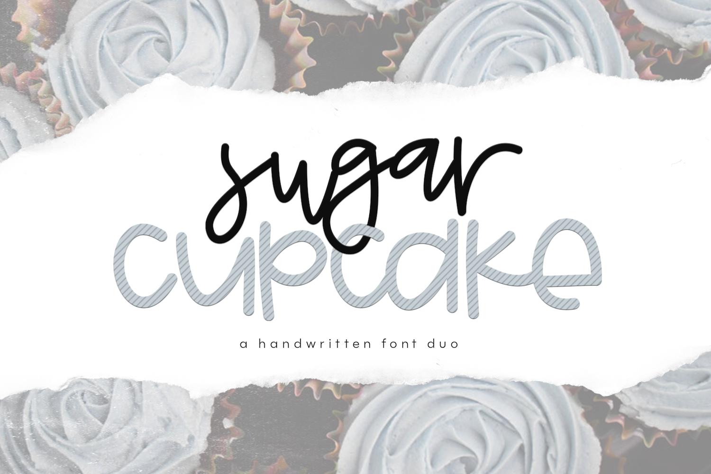 Sugar Cupcake - Handwritten Script & Print Font Duo example image 1