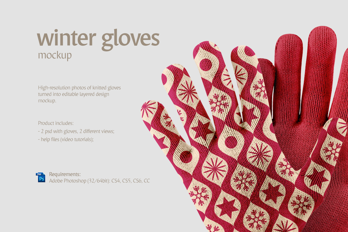 Winter Gloves Mockup example image 2