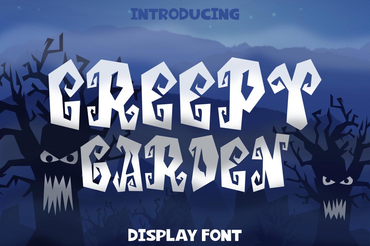 Creepy Garden Font example image 1