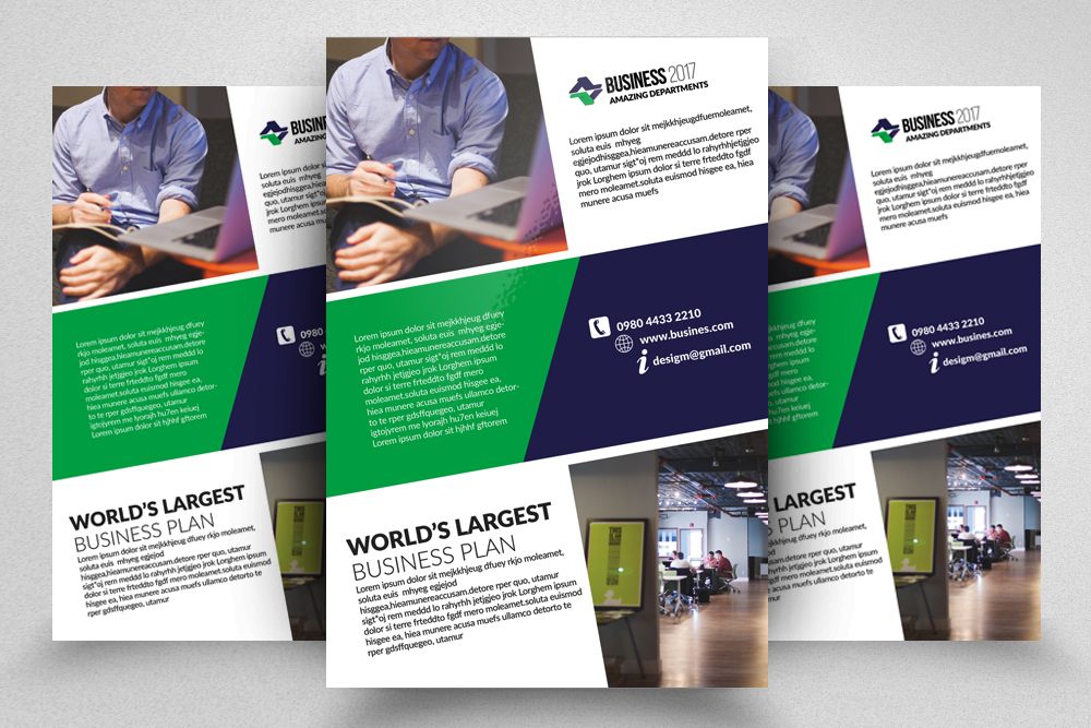 10 Corporate Psd Flyer Templates Bundle example image 11