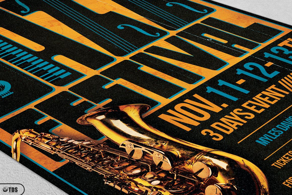 Jazz Festival Flyer Bundle V1 example image 8