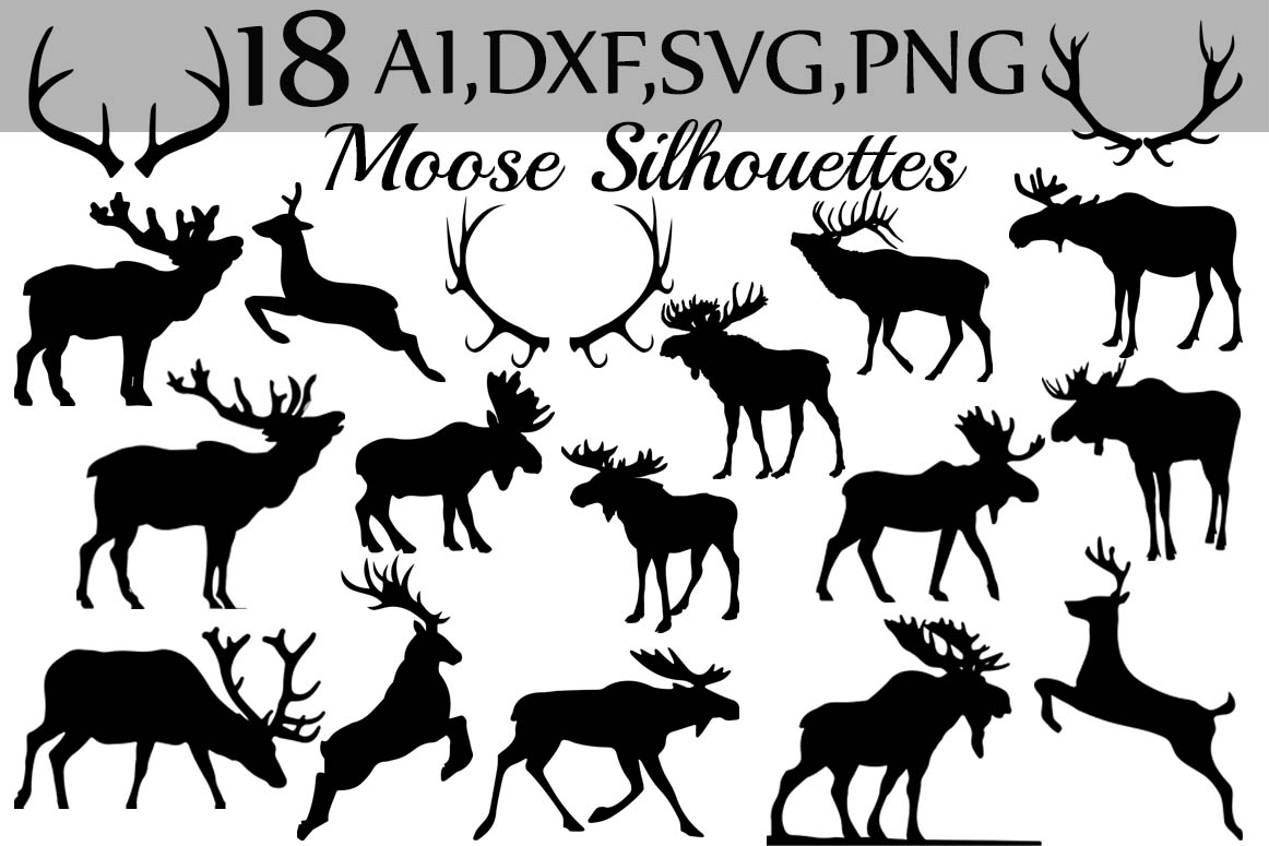 SVG Moose clipart example image 1