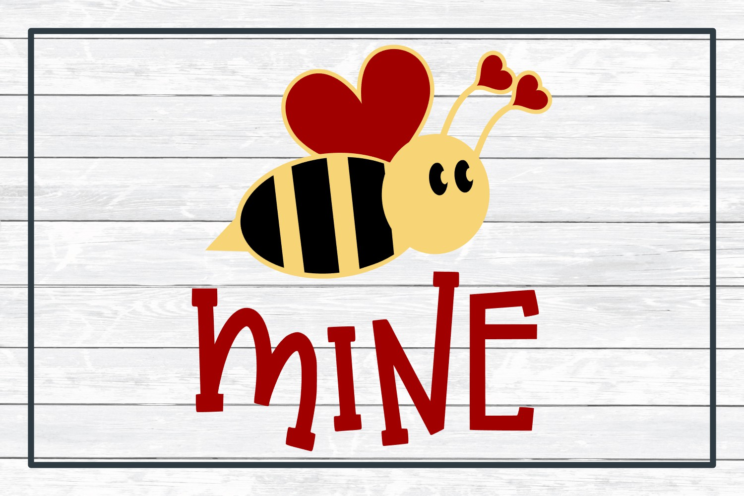 Bee Mine Valentine SVG Cut File for Crafters example image 3