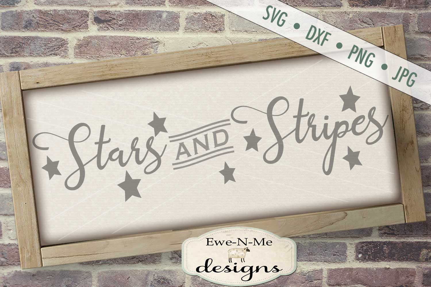Stars and Stripes - Patriotic July 4th SVG DXF Files example image 1