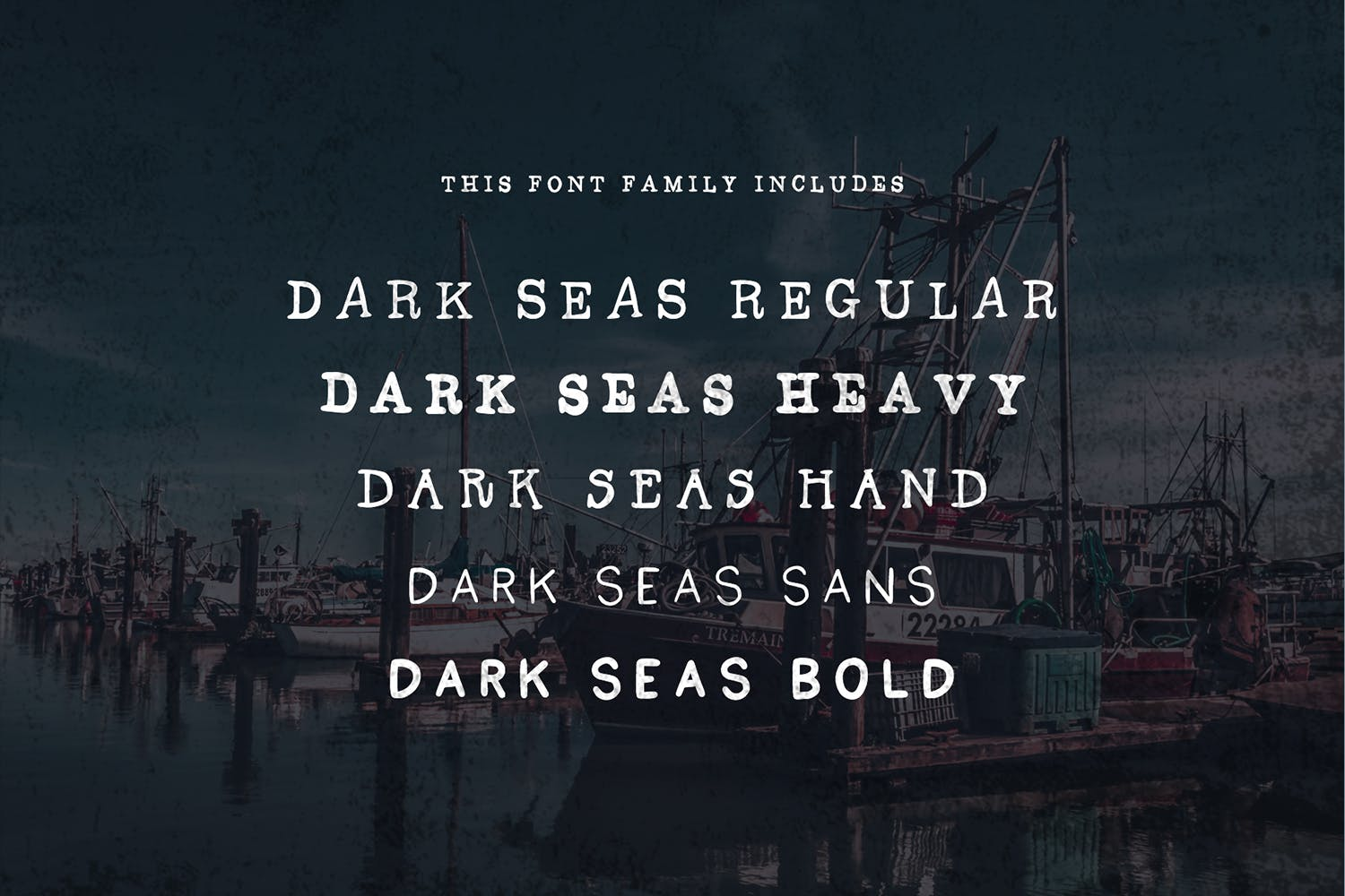 Dark Seas | A Salty Font Family example image 2