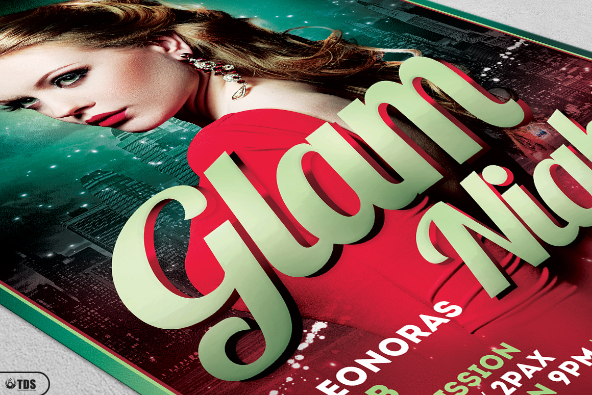 Glam Night Flyer Template example image 5