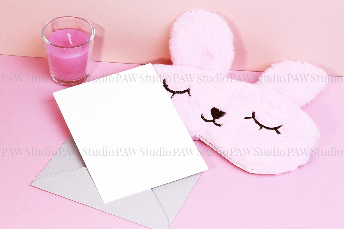 Card mockup with sleeping mask & FREE BONUS example image 5