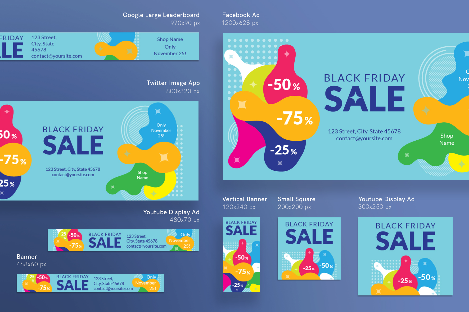 Black Friday Sale Design Templates Bundle example image 6