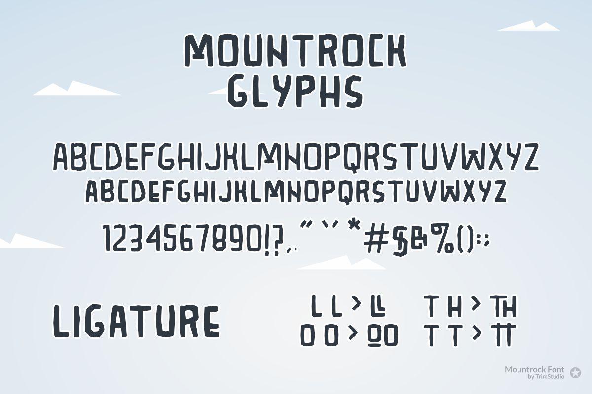 Mountrock - Summer Camp Font example image 6