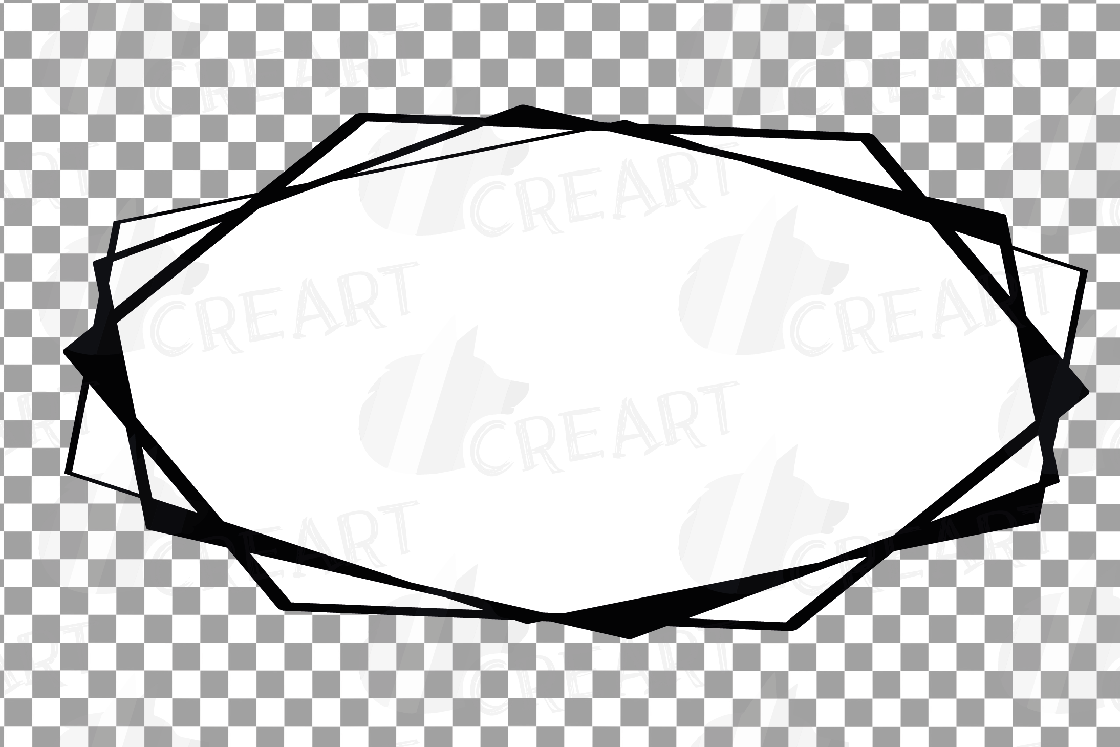 Chaotic geometric black frames, lineal frames clip art example image 15