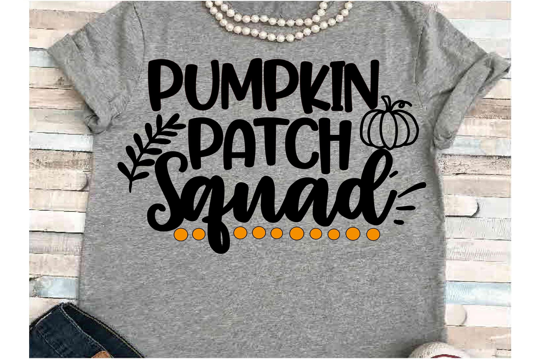 Squad SVG DXF JPEG Silhouette Cricut Halloween pumpkin group example image 1