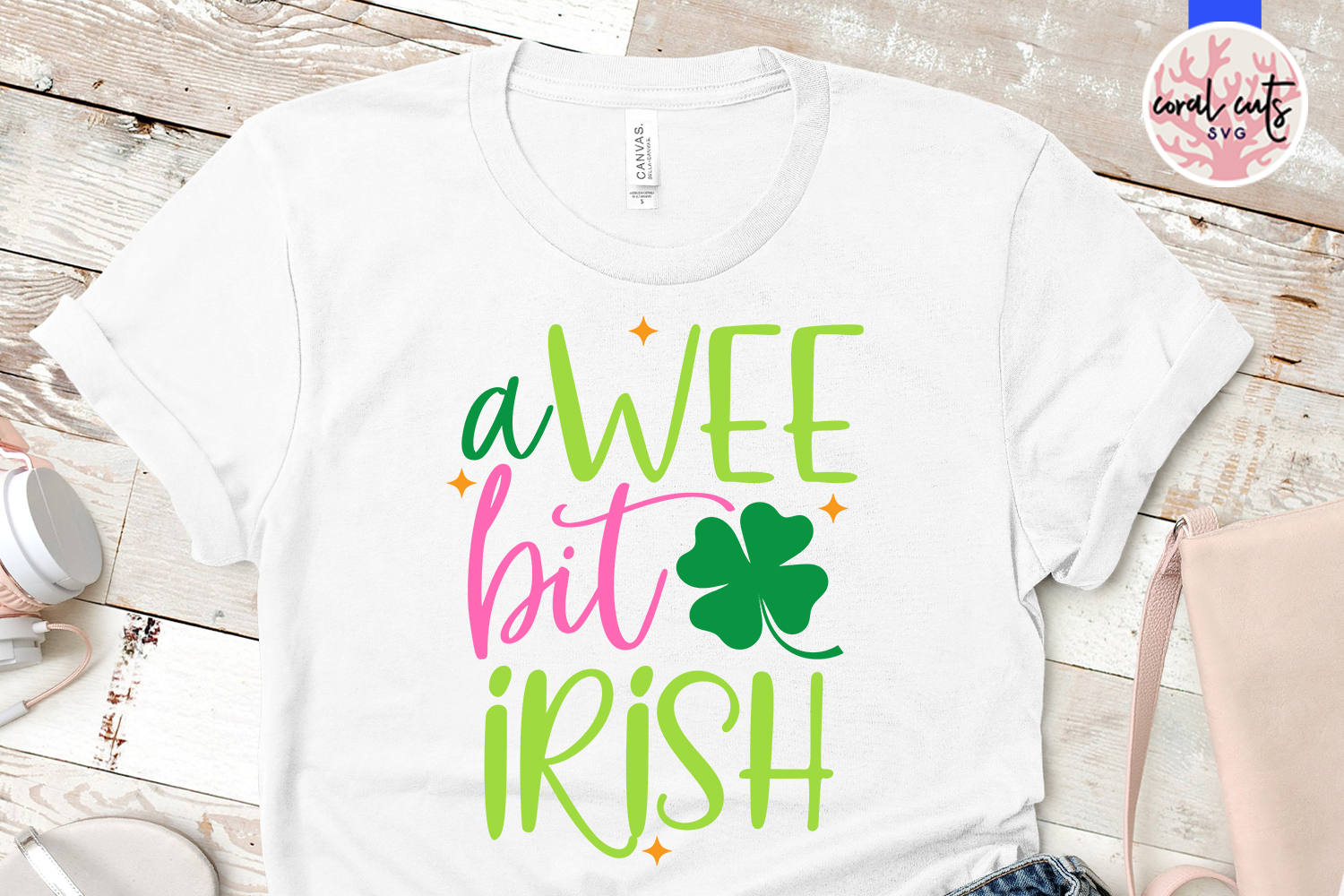 A wee bit irish - St. Patrick's Day SVG EPS DXF PNG example image 2