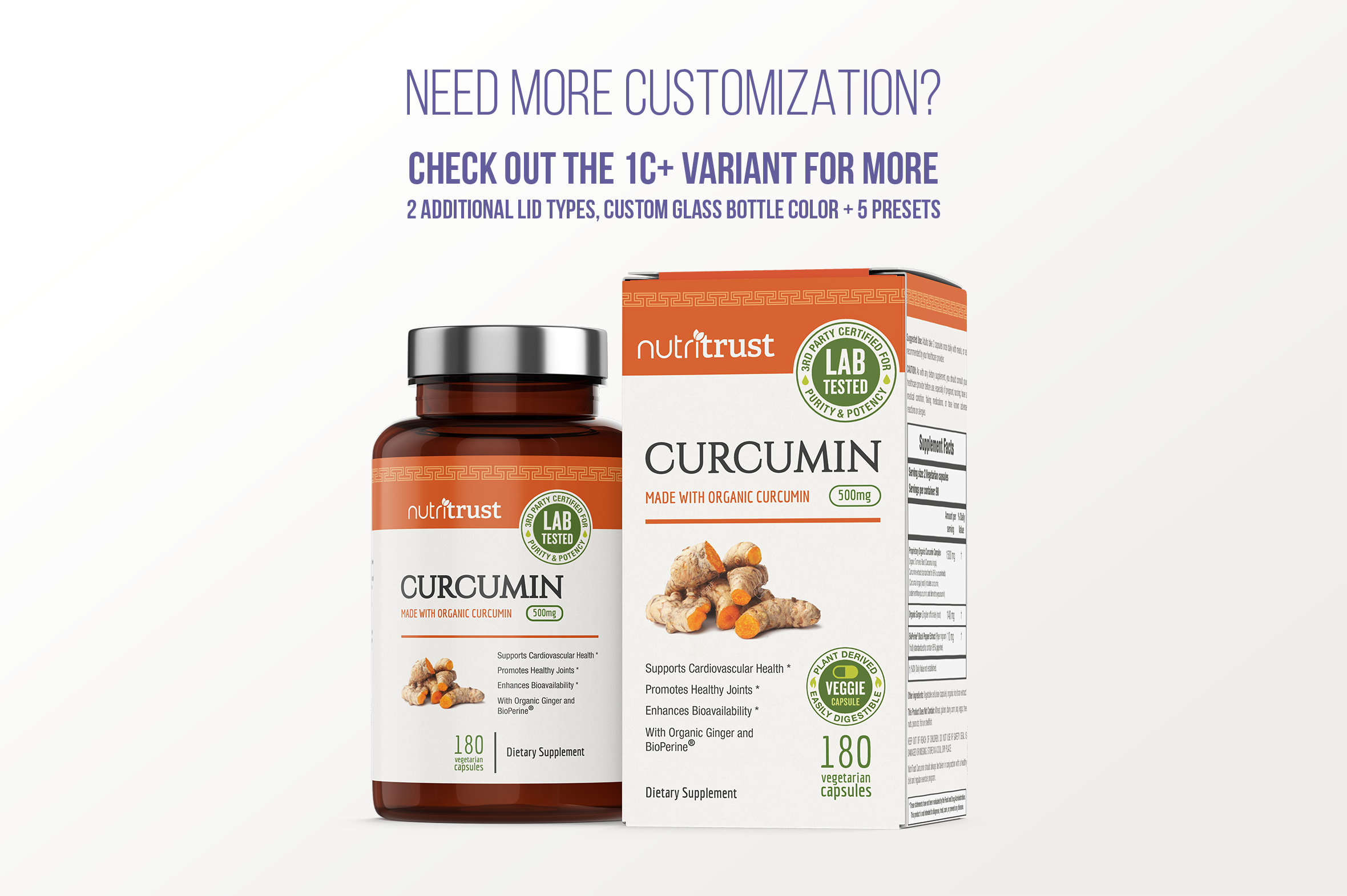 Dietary Supplement Mockup v. 1C example image 7