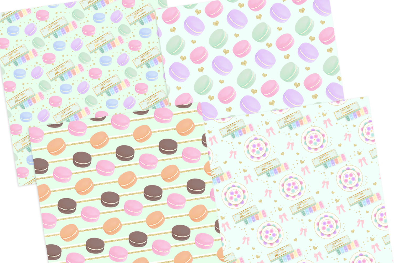 Macaron Digital Papers Seamless Pattern example image 2