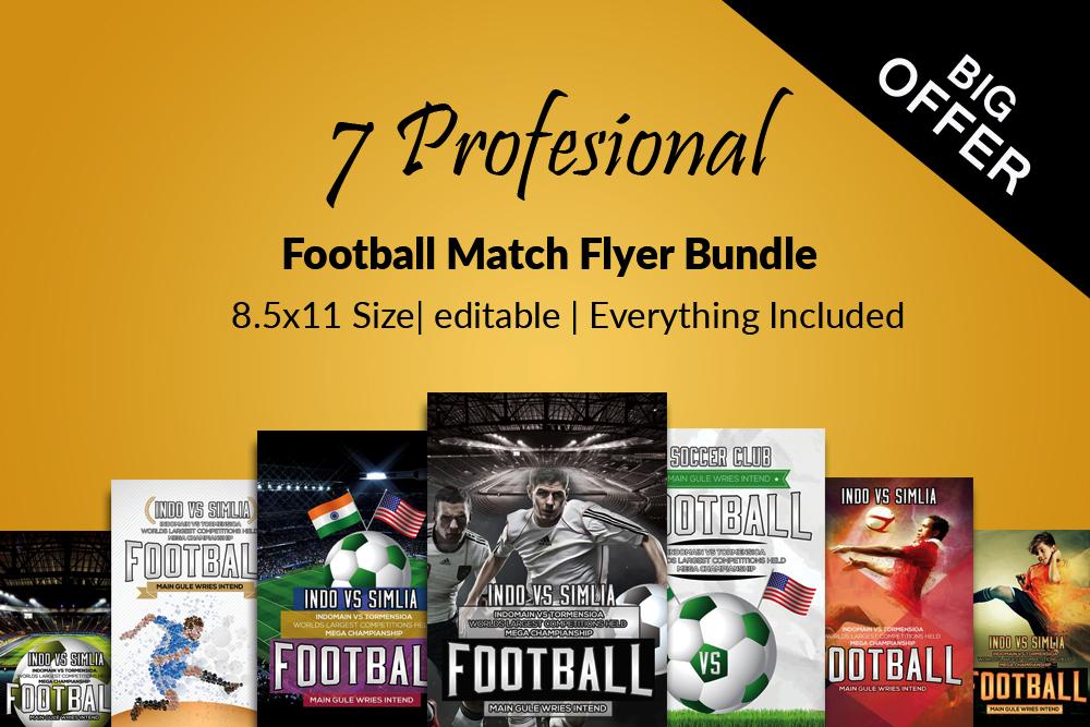 7 Football Match Flyers Bundle example image 1