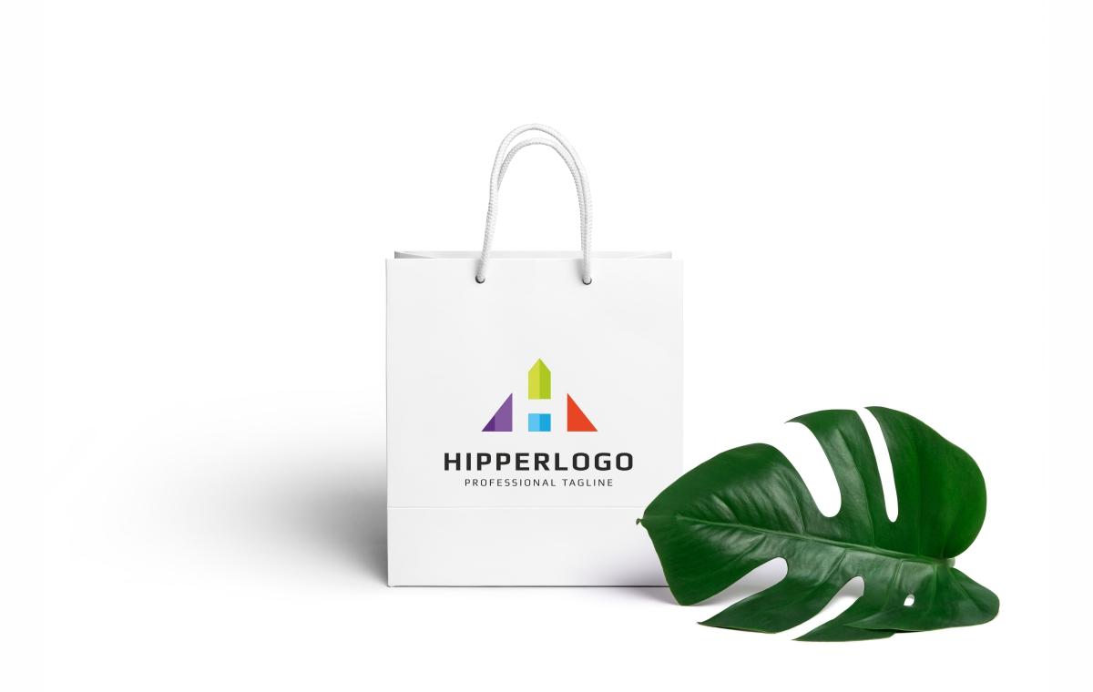 Hipper H Letter Logo example image 3